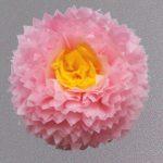 flor rosa 45 centro amarillo