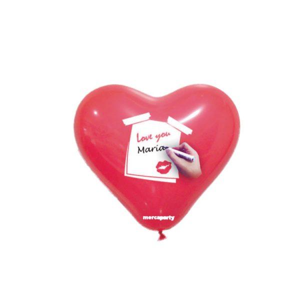 Globos San Valentín de corazón color rojo personalizables -