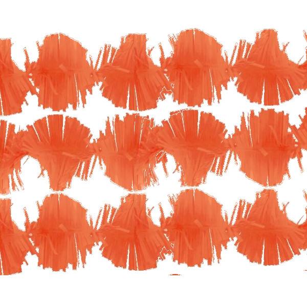Guirnalda de papel Trianon color naranja 3m -