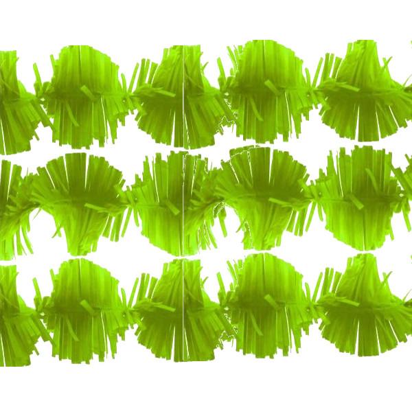 Guirnalda de papel Trianon color verde claro 3m -