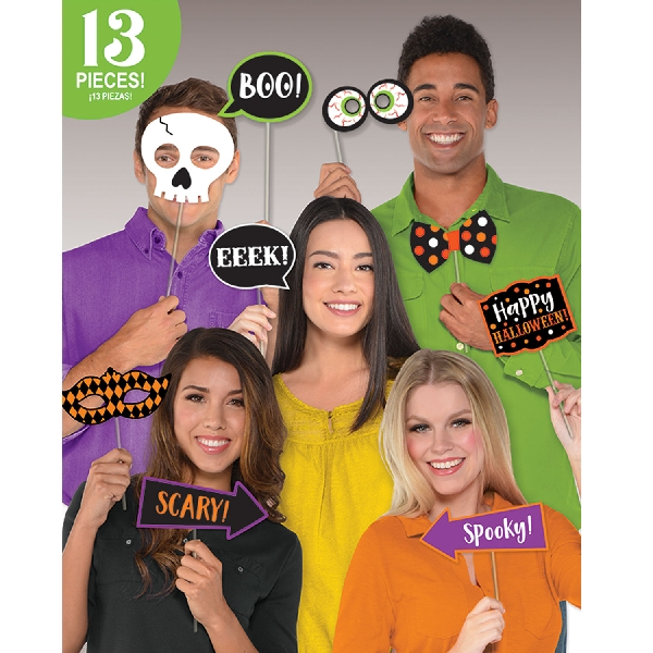 Photo Booth Kit Halloween 13 piezas -