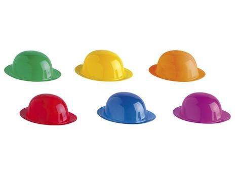 Bombín plástico colores surtidos -