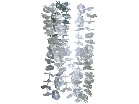 Collar de flores plateado -