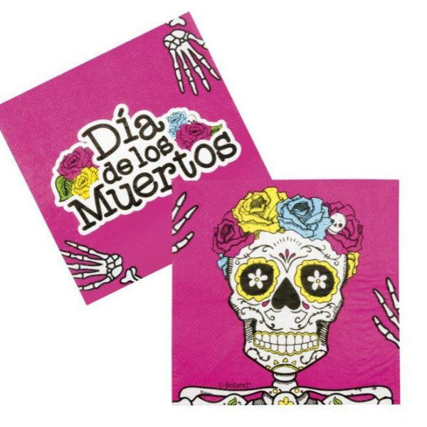 Servilletas de papel Calavera Day of the dead de 33 x 33 cm -