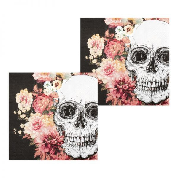 Servilletas de papel Day of the dead de 33 x 33 cm -