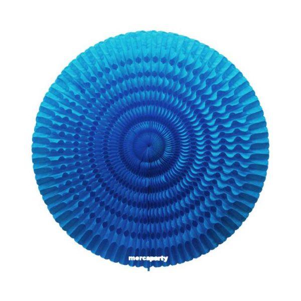 Abanico de papel color turquesa de 85cm -