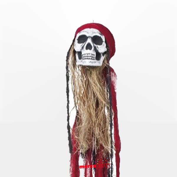 Decoración colgante Calavera Pirata de 90cm -
