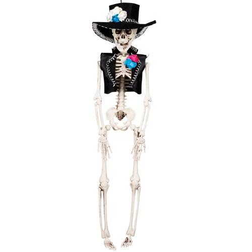 Decoración colgante esqueleto EL Flaco de 40cm -
