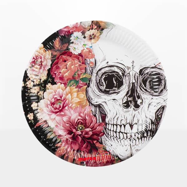 Plato de cartón Day of the dead de 23 cm. -
