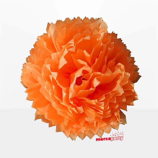 Flor de papel de 45 cm Naranja - Flores
