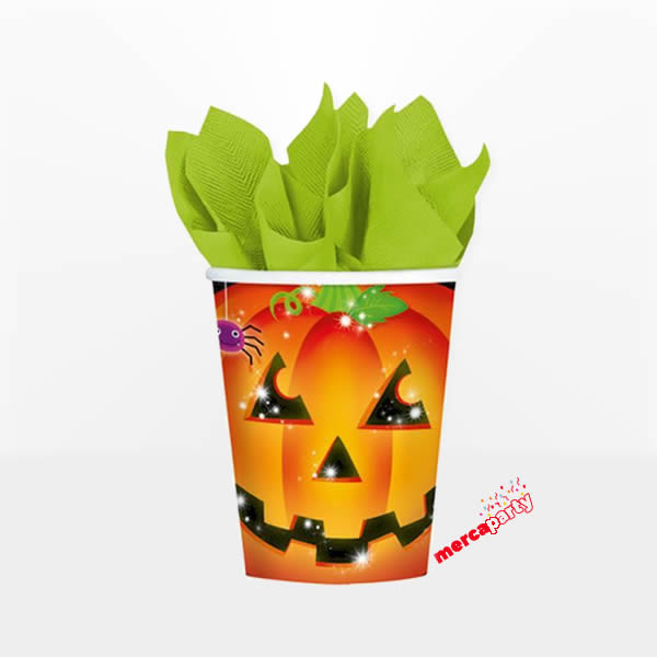 Vaso de papel PUMPKINS de 266ml 8uds -