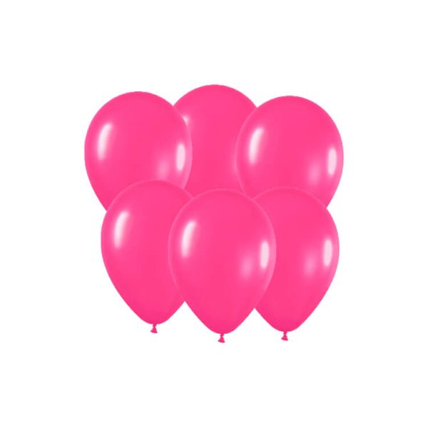 100 Globos metalizados color FUCSIA -