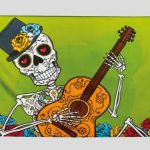 B97022 bandera day of the dead
