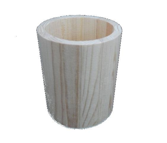 Vaso de madera para decoración de mesa - Decoración Navidad