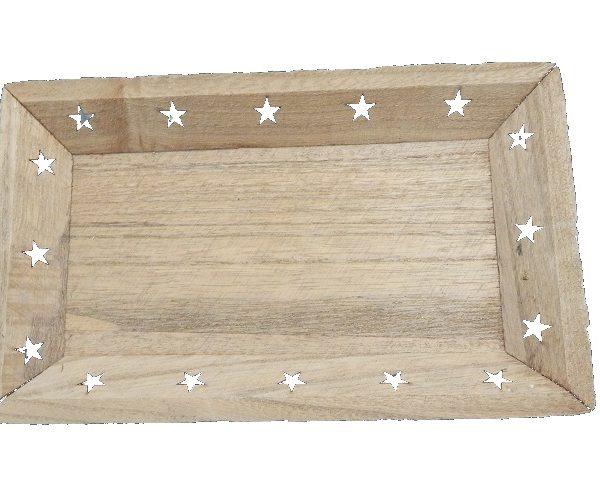 Bandeja de madera para decoración mesa - Decoración Navidad