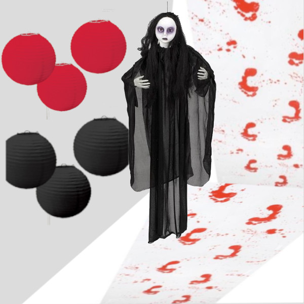 Decoración de entrada Zombi colgante - Escaparate Halloween