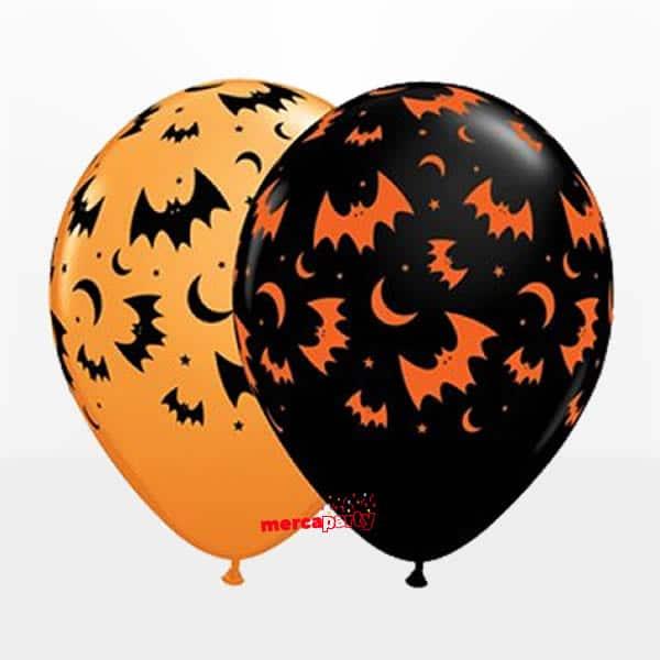 Globo murciélagos y lunas de 28cm -