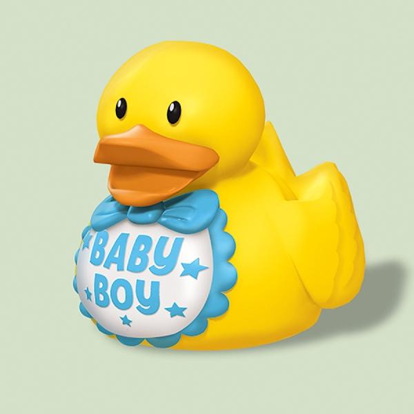 Patitos de Goma babyshower con detalles en Azul ''Baby Boy'' - Artículos cumpleaños infantil