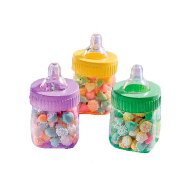 Biberones multicolores para rellenar de 7,5 cm - Artículos y Accesorios para Decoración Baby Shower