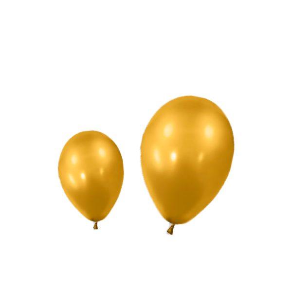 Globos metalizados color ORO por unidades - Bodas de Oro