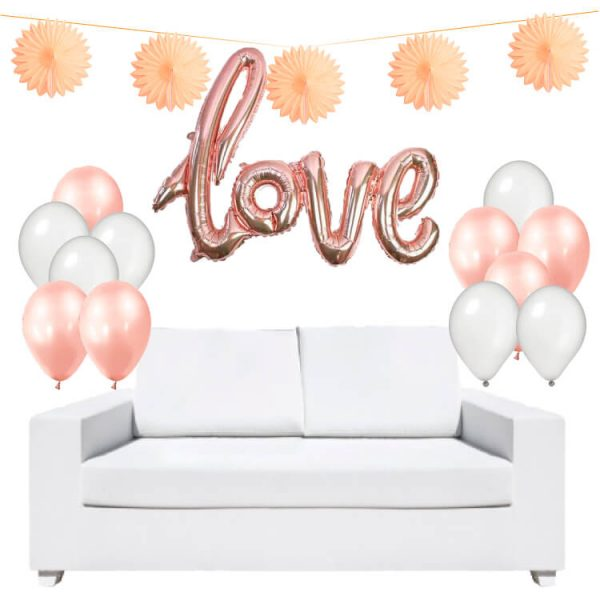 Kit decoración globo LOVE - San Valentín
