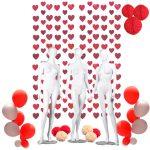 Kit decoración globo LOVE, con abanicos de 15cm y globos metalizados -