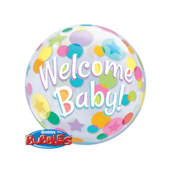 Globo Welcome Baby multicolor de 56 cm -