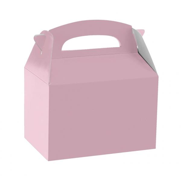 Caja de cartón rosa claro de 15 x 10 x 17 cm para chuches -