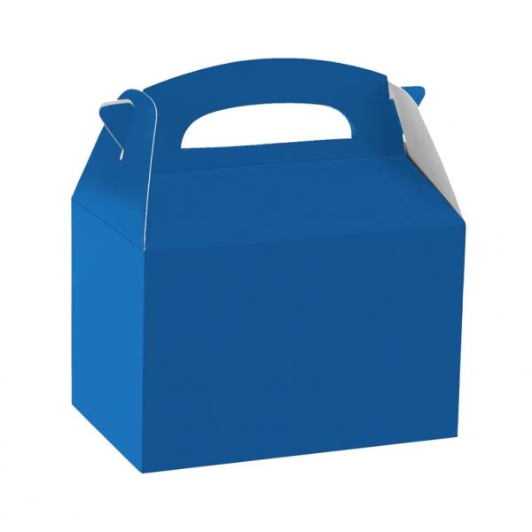 Caja de cartón azul fuerte de 15 x 10 x 17 cm para chuches - Fiesta superhéroes