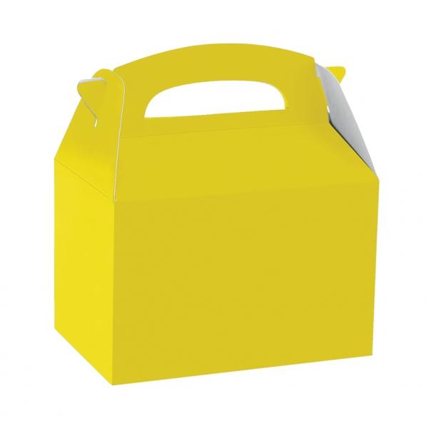 Caja de cartón amarillo de 15 x 10 x 17 cm para chuches -