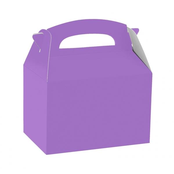 Caja de cartón malva de 15 x 10 x 17 cm para chuches -