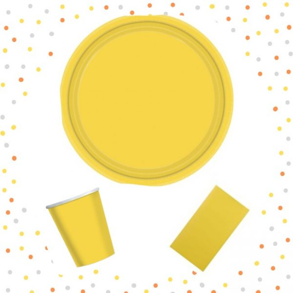 Set de menaje amarillo -