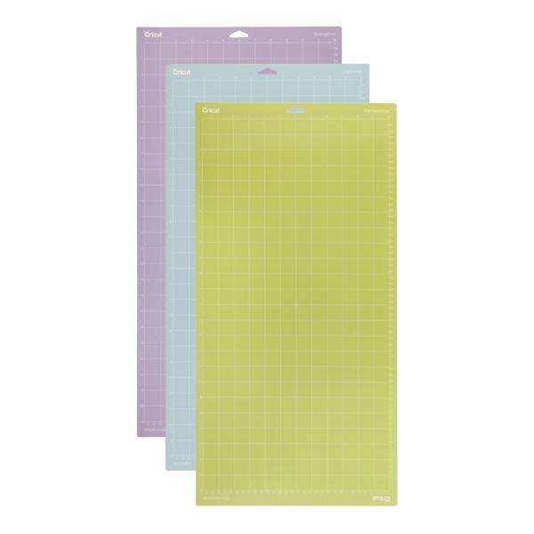 """Pack 3 tapetes de corte adhesivos 12""""X24"""" de cricut -"""