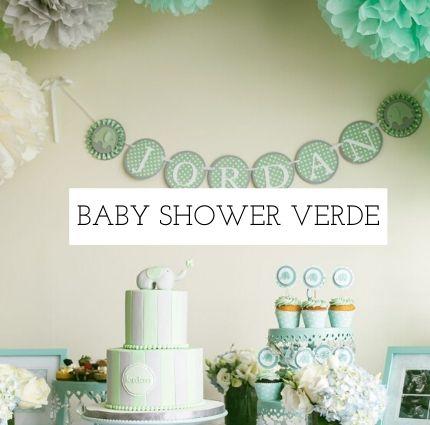 Ideas de baby shower en distintos colores -