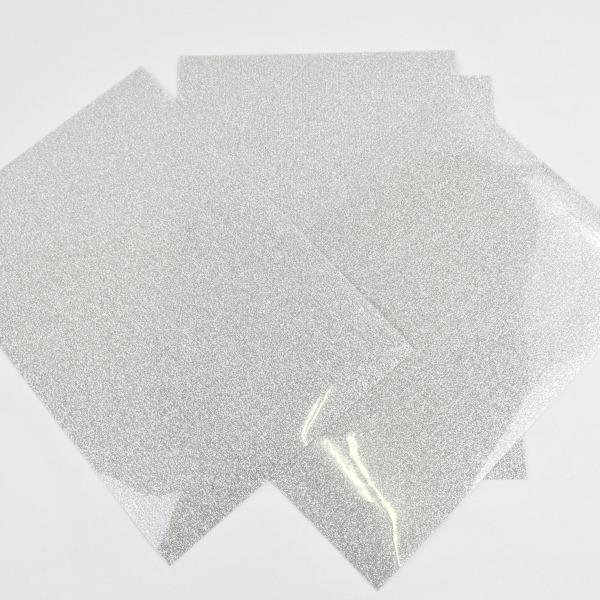 Vinilo textil glitter plata cricut -