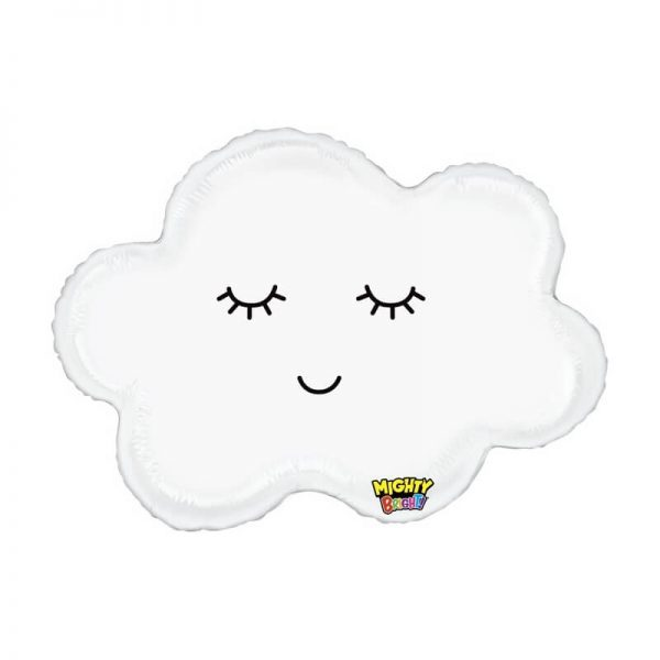 """Globo Nube con ojitos de 34"""" -"""