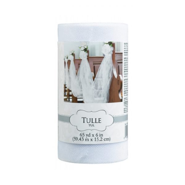 Rollo de tull blanco de 15cm x 59 m - Candy Bar