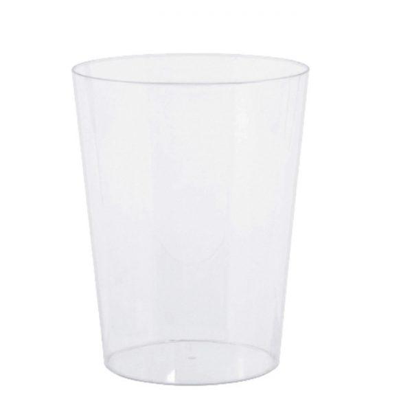 Vaso cilíndrico para caramelos de plástico transparente de 14cm - Bodas de Oro
