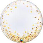 89727 globo 24-deco-bubble-confeti-dorado
