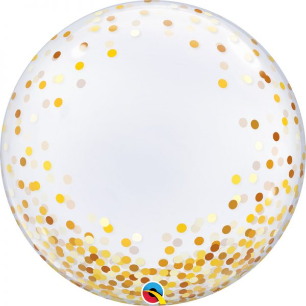"Globo de 24"" Deco Bubble confeti dorado -"