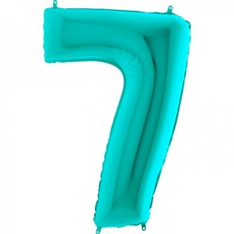 Globo nº 7 color azul tiffany de 66cm - Globos cumpleaños de adulto