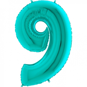 Globo nº 9 color azul tiffany de 66cm - Photocall