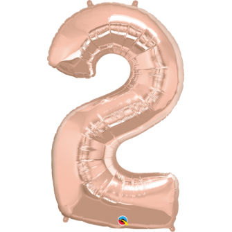 Globo nº 2 color rosa gold de 100 cm - Globos cumpleaños de adulto