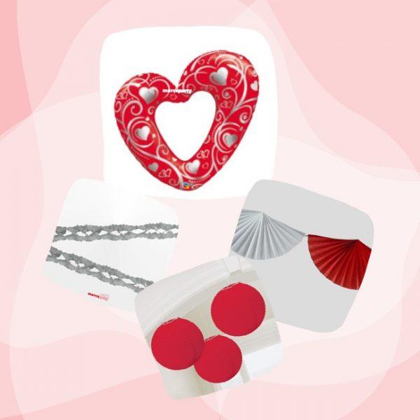 Kit San Valentín de Corazón rojo -