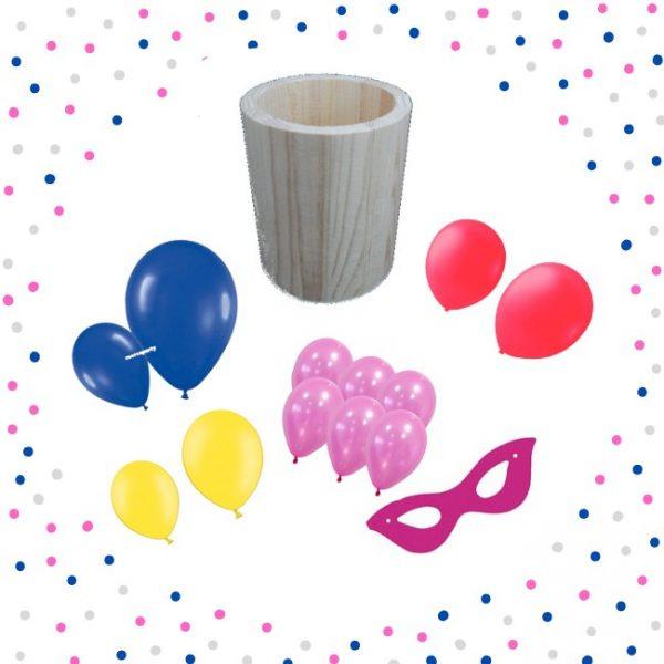 Kit antifaz damita y globos - Artículos cumpleaños infantil