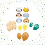 Kit caretas animales y globos -