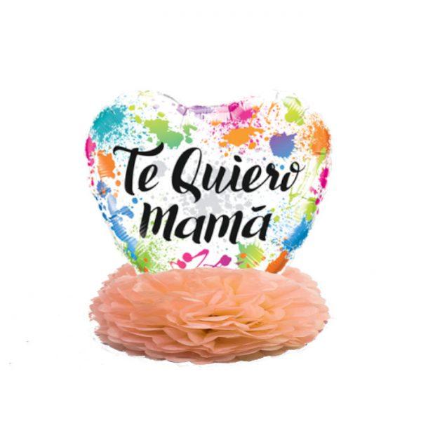 """Centro de mesa """"TE QUIERO MAMÁ"""" -"""
