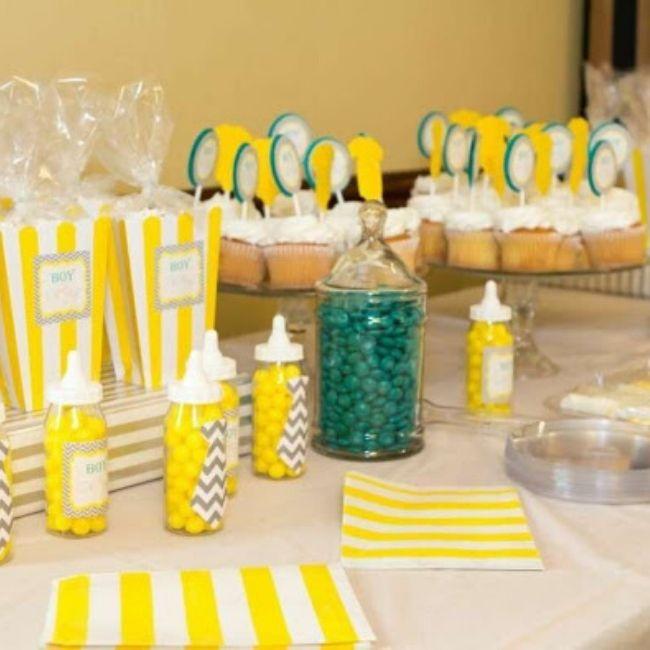 Elementos para una fiesta de baby shower -