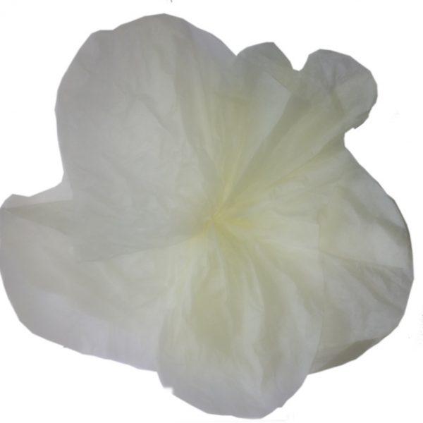 Flor de papel de seda en color crema -