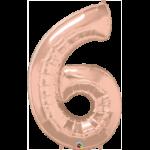 globo numero 6-rose-gold-1m